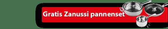 """Zanussi ZSK6540CB inbouw inductiekookplaat met GRATIS pannenset """"ZCE01411AF"""" ACTIE"""