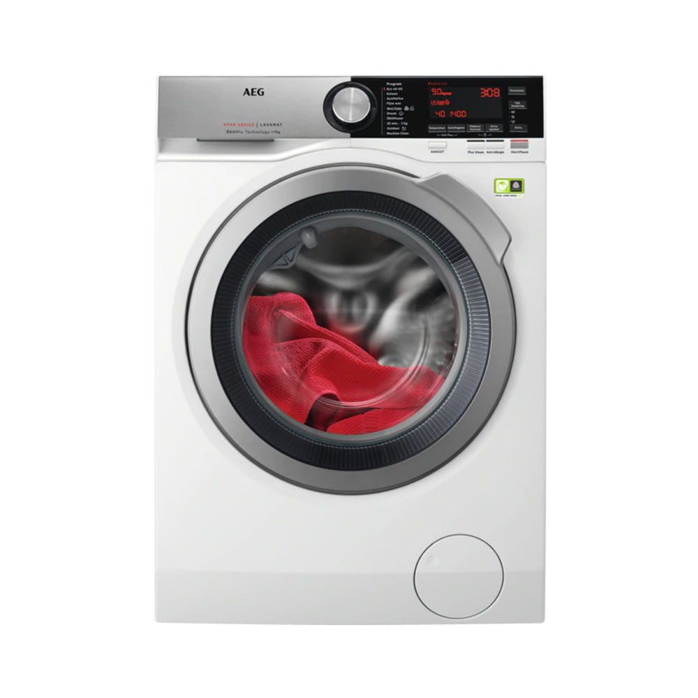 AEG L8FEN96CS wasmachine met ProSteam en ÖKO powerprogramma