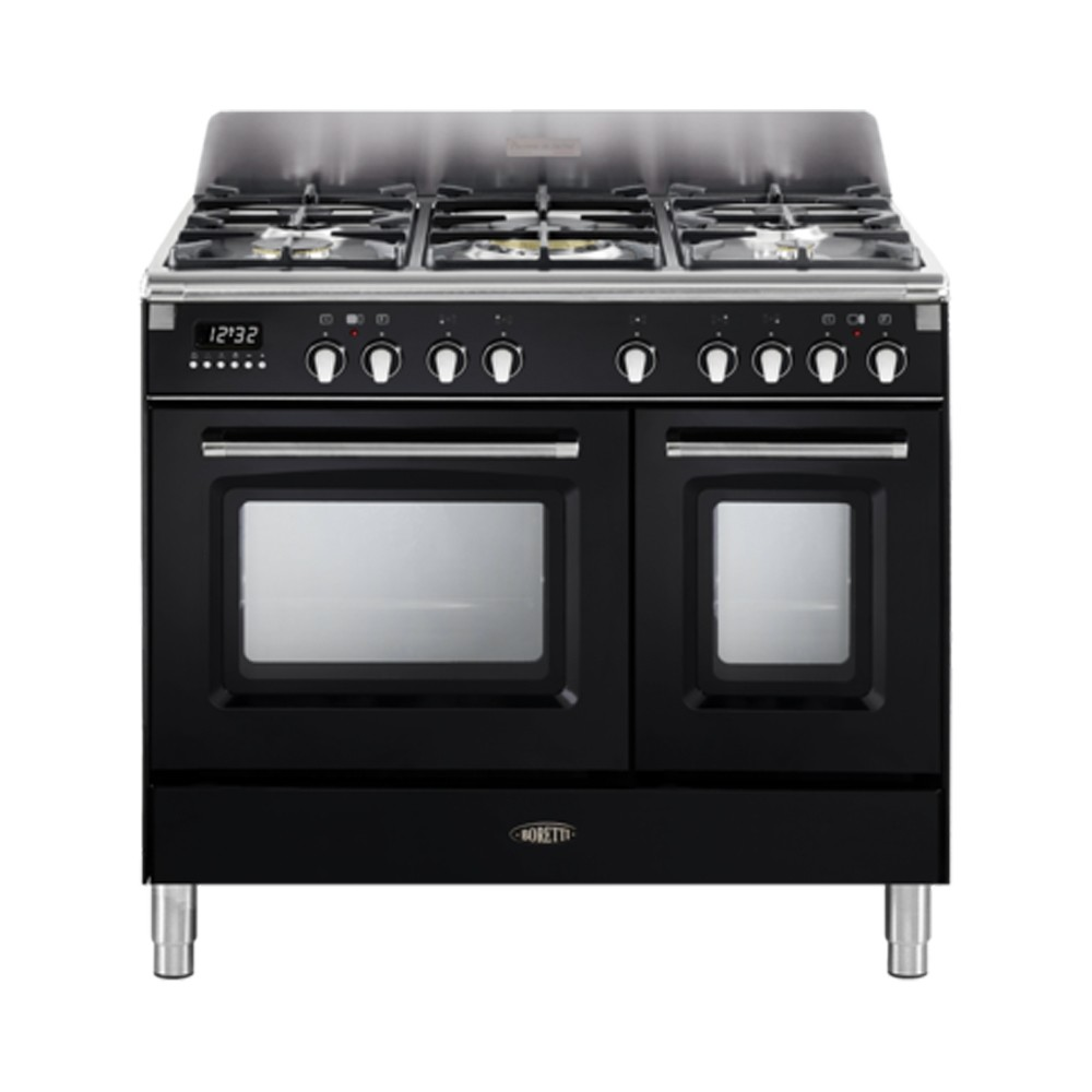 Boretti CFBG902ZW gasfornuis met Dual Fuel wokbrander en dubbele oven
