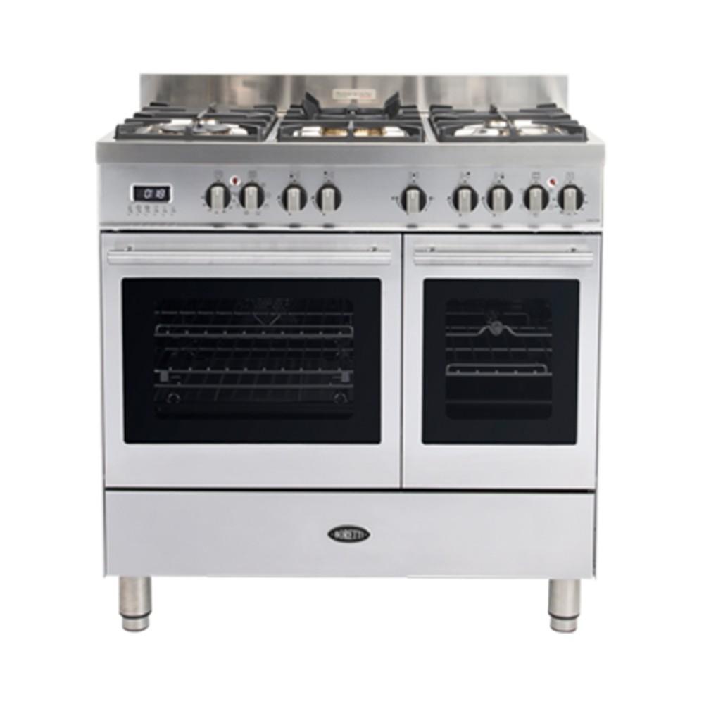 Boretti MFBG902IX gasfornuis Milano met 2 ovens en Dual Fuel...