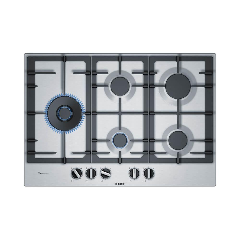Bosch PCS7A5B90N inbouw gaskookplaat restant model met duo wokbrander en FlameSelect