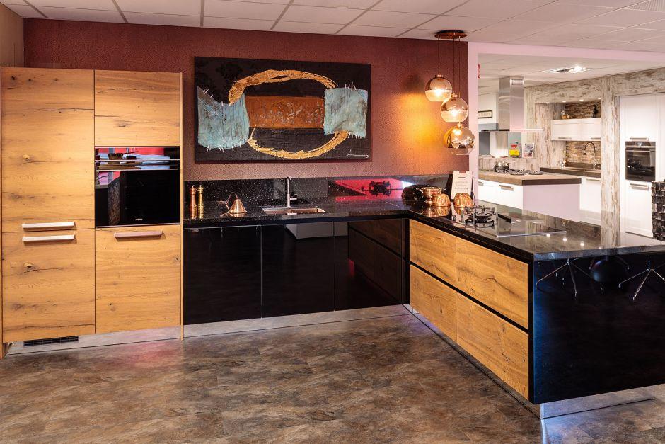 Luxe industriële keuken showroom model AANBIEDING