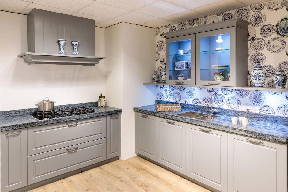 Landelijke keuken romantisch klassiek showroom model AANBIEDING