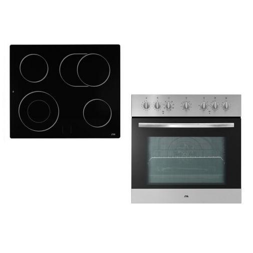 Etna A6405FT + A566T oven met keramische kookplaat combinatie restant model