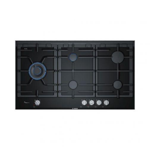Bosch PRS9A6D70N inbouw glaskeramische gaskookplaat met Duo wokbrander