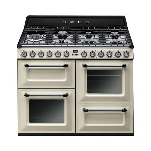 Smeg TR4110CNL gasfornuis restant model met 3 ovens en 7 gaskookzones