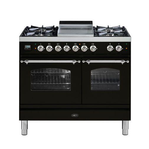 Boretti VFPNR104AN gasfornuis met 2 ovens en Fry Top/ Teppanyaki