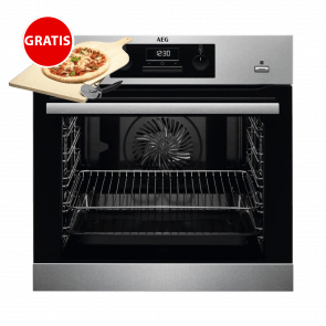 """AEG-BEB351010M-oven-met-SteamBake-en-speciale-Pizzastand-met-gratis-AEG-""""A9OZPS1""""-pizzasteen"""