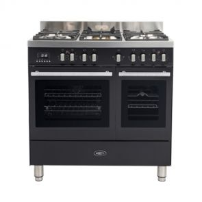 Boretti-MFBG902AN-gasfornuis-Milano-met-2-ovens-en-Dual-Fuel-wokbrander