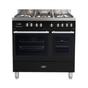Boretti-MFBG902ZW-gasfornuis-Milano-met-2-ovens-en-Dual-Fuel-wokbrander