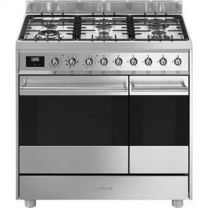 Smeg-C92GMXNLK9-gasfornuis-met-2-ovens-en-Vapor-Clean-functie