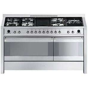 Smeg-CS150NL-8-gasfornuis-ACTIE-op=op!-met-2-ovens-en-FryTop-grill-/warmhoudplaat