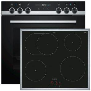 Siemens-inbouw-fornuis-combinatie-restant-model:-HE517ABS1-oven-en-EI645CFB1E-inductie-kookplaat