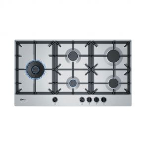 Neff-T29DS79N0N-inbouw-gaskookplaat-ACTIE-op=op-met-FlameSelect-en-Duo-wokbrander