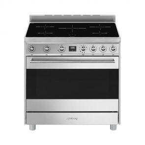 Smeg-C9CTXI9-inductie-fornuis-met-Ever-Clean-ovenruimte,-draaispit-en-5-kookzones