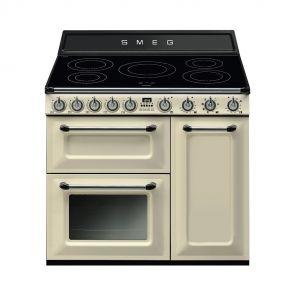 Smeg-TR93IP-inductiefornuis-Crème-met-2-ovens-en-GRATIS-Smeg-50's-style-waterkoker-en-broodrooster