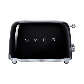 Smeg-TSF01BLEU-50's-style-broodrooster-2X2-geschikt-voor-twee-sneetjes-brood,-Zwart