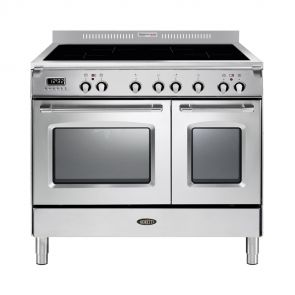 Boretti CFBI902IX inductiefornuis met 4 inductiezones en 2 ovens