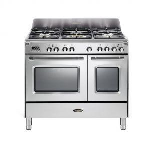 Boretti CFBG902IX gasfornuis met Dual Fuel wokbrander en dubbele oven