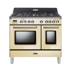 Boretti CFBG902OW gasfornuis met Dual Fuel wokbrander en dubbele oven