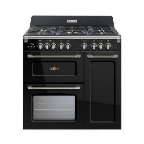 Boretti CFBG903AN gasfornuis met Dual Fuel wokbrander en drievoudige oven