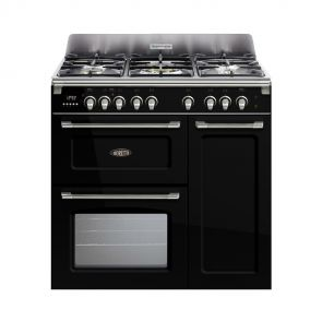 Boretti CFBG903ZW gasfornuis met Dual Fuel wokbrander en drievoudige oven