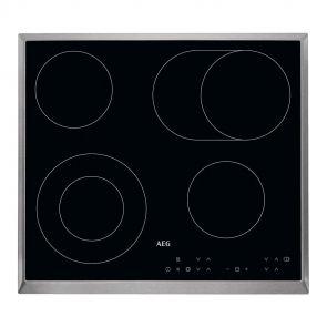 AEG HD340606XB inbouw keramische kookplaat ACTIE op=op! met timer en RVS rand