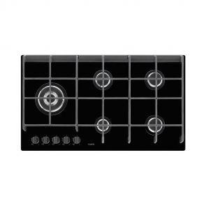 AEG HG975550VB inbouw gas op keramisch glaskookplaat met wokbrander
