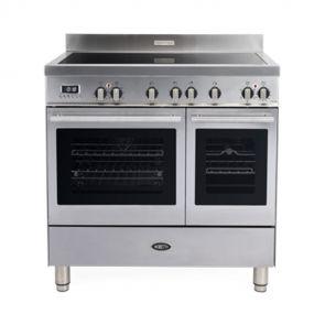 Boretti MFBI902IX Milano inductiefornuis met 2 ovens en Booster kookzones