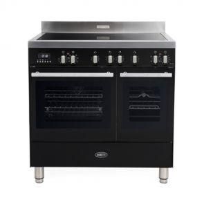 Boretti MFBI902ZW Milano inductiefornuis met 2 ovens en Booster kookzones