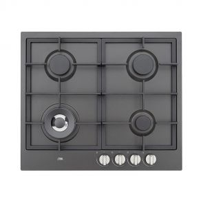 Etna KG959ZTA inbouw gaskookplaat met wokbrander en gietzijzeren pannendragers