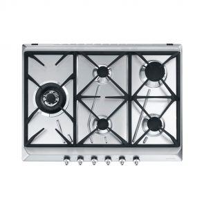 Smeg GKC755NLK inbouw gaskookplaat met wokbrander ACTIE op=op!