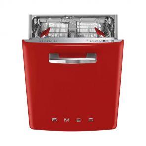Smeg ST2FABRD2 onderbouw vaatwasser 50's style, rood, met 4 QuickTime programma's en Acquastop