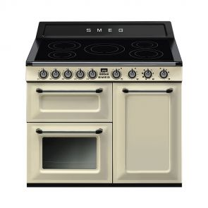 Smeg TR103IP inductiefornuis Crème met 3 ovens nu met GRATIS Smeg 50's waterkoker en broodrooster