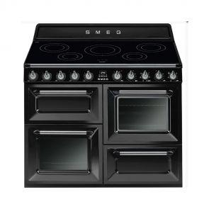 Smeg TR4110IBL inductiefornuis Zwart met 3 ovens nu met GRATIS Smeg 50's waterkoker en broodrooster