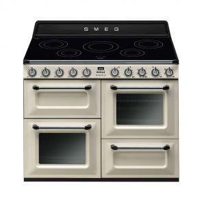 Smeg TR4110IP inductiefornuis crème met 3 ovens nu met GRATIS Smeg 50's waterkoker en broodrooster