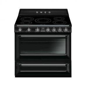 Smeg TR90IBL9 inductiefornuis zwart met GRATIS Smeg 50's Style waterkoker en broodrooster