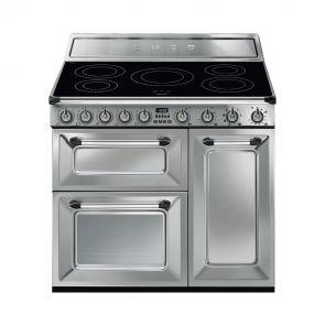 Smeg TR93IX inductiefornuis RVS met 2 ovens en GRATIS Smeg 50's style waterkoker en broodrooster