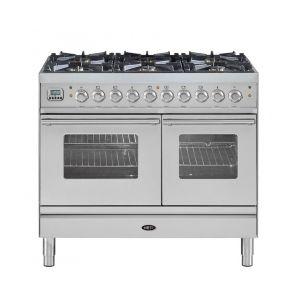 Boretti VP104IX gasfornuis met 2 ovens en 6 gasbranders