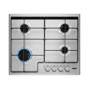 Zanussi ZGH65414XS inbouw gaskookplaat met geïntegreerde vonkontsteking en thermokoppel gasbeveiliging