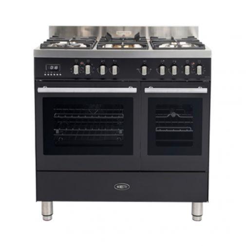 Boretti MFBG902AN gasfornuis Milano met 2 ovens en Dual Fuel wokbrander