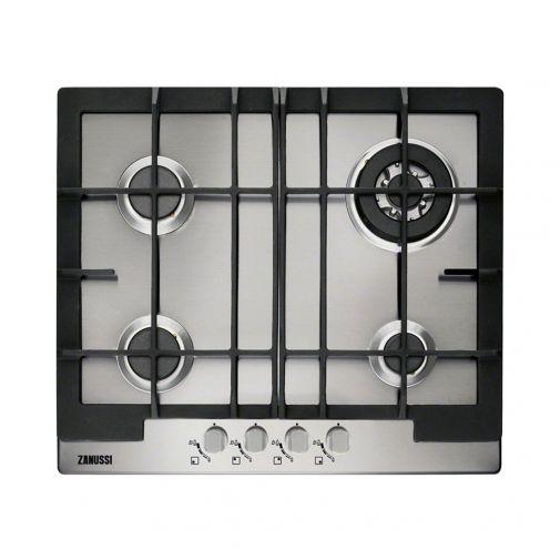 Zanussi ZGG66424XA inbouw gaskookplaat ACTIE OP=OP! met wokbrander en gietijzeren pannendragers