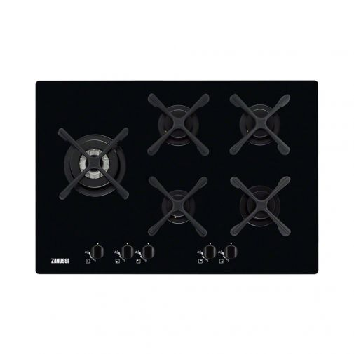 Zanussi ZGO76534BA gas op glas kookplaat