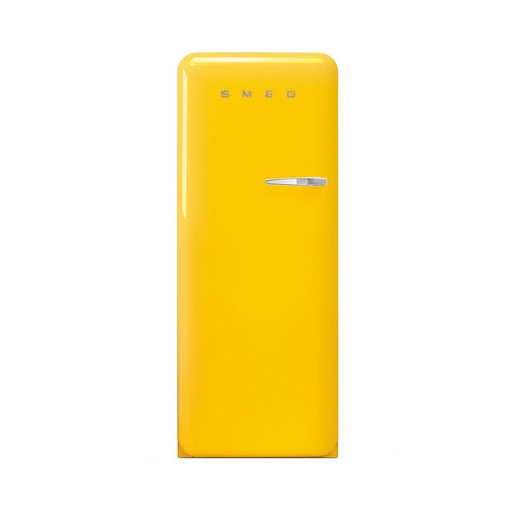 Smeg FAB28LYW5 koelkast met vriesvak, linksdraaiend, geel