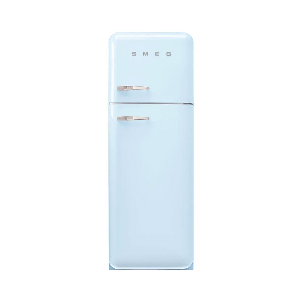 Smeg FAB30RPB5 vrijstaande dubbeldeurs koelkast, rechtsdraaiend, pastelblauw