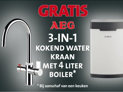 AEG kokend waterkraan